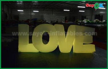 Китай Романтичное раздувное украшение освещения, раздувное любовное письмо с светом СИД поставщик