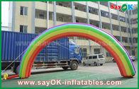 Китай свод входа 7мЛ кс 4мХ гигантские раздувные/ткань Оксфорда свода радуги для события завод