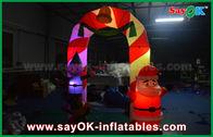 Китай Свод украшения рождества свода ткани Мылон раздувной с светом СИД завод