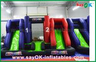 Китай Голубой и красный раздувной большой замок слайдера хвастуна ягнится игрушки Палинг для детей завод