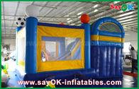 Китай Небольшой 4кс3м раздувной слайдер замка прыжка ПВК с футболом Декоратиионн завод