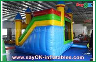 Китай Дети дом голубых/желтого цвета коммерчески раздувной прыжка с скольжением 3 лет гарантии завод