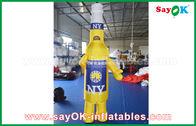 Китай Изготовленные на заказ желтые/голубые портативные раздувные персонажи из мультфильма для коммерчески рекламы завод