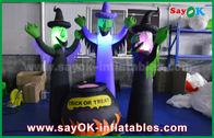 Китай призраки ткани 210Д Оксфорда раздувные страшные и волшебный опарник с освещением СИД на хеллоуин завод