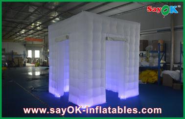 Портативная машинка шатра кубика изготовленного на заказ белого раздувного приложения раковины будочки фото раздувная