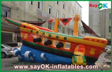 Желтый/красный/голубой раздувной дом прыжка замка коммерчески рекламы пиратского корабля