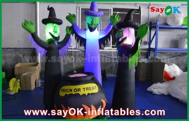 призраки ткани 210Д Оксфорда раздувные страшные и волшебный опарник с освещением СИД на хеллоуин