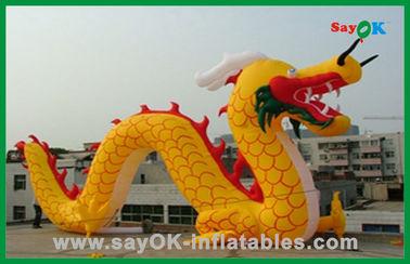 Персонажи из мультфильма изготовленного на заказ желтого раздувного китайского дракона раздувные для деятельностей